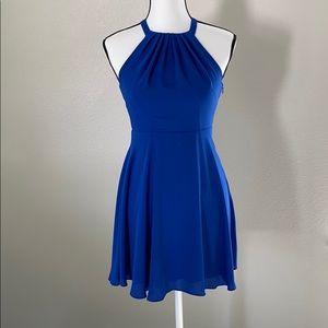 Express blue halter neck dress sz 0